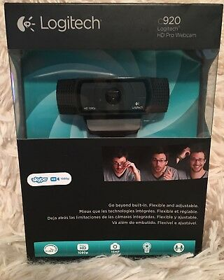 Logitech HD Pro C920 Web Cam 1080p Widescreen for Video Calling and Recording