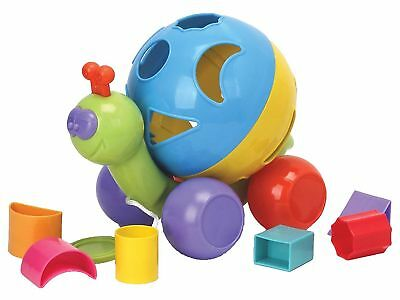 Simon the Snail Pull a Long Shape Sorter Toy Baby & Toddler Age 12 mths +