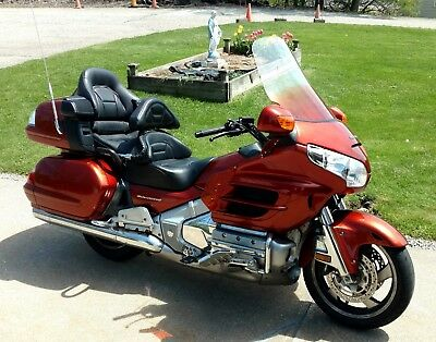 2007 Honda 1800 GoldWing Model GL18HPNAM7 Dark Orange Metallic Loaded