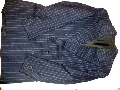 Bespoke Doug Hayward Navy Flannel Savile Row Double Breasted Suit Alan Whicker