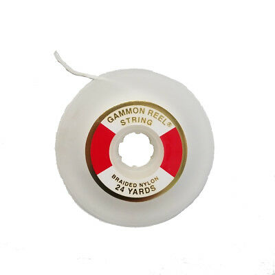 24 Yard Gammon Reel String Refill for Large 12 FT Gammon Reel Use - White