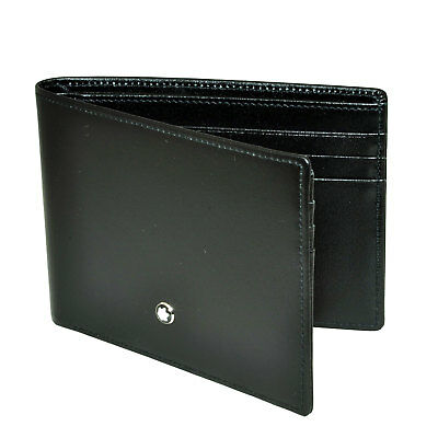Montblanc Meisterstuck Black Leather Wallet 6cc 14548 | NEW