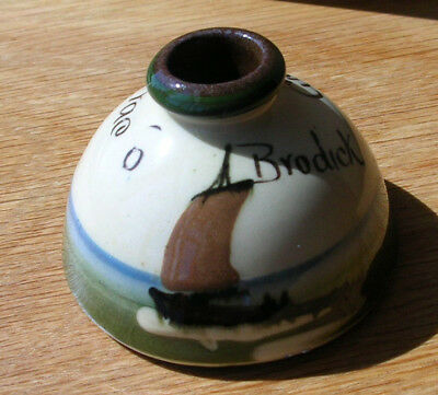 """Ink Well Torquay Ware From Brodick - Motto """"gies A Scrae 'o Yer Pen"""