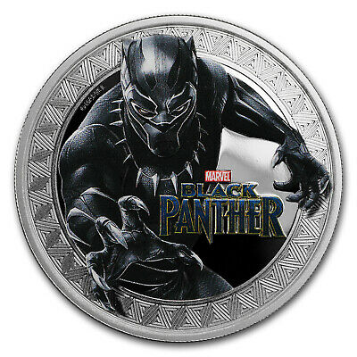 2018 Tuvalu 1 oz Silver Black Panther Proof - SKU#168267
