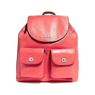 cbaa74f94d91 New Women s Coach (F37410) Billie Watermelon Red Pebbled Leather Backpack  Bag