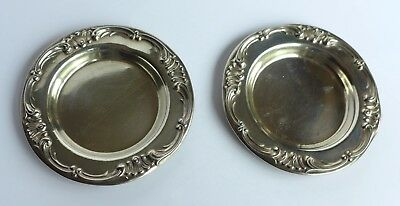 "Pair of Gorham Sterling Silver Coasters, 1906, 3"" diameter, 38 grams the pair"