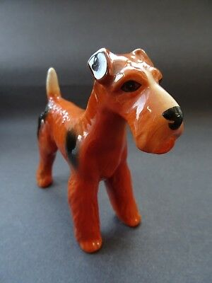 Vtg Melba Ware Dog Ornament Figurine Lakeland Fox Welsh Terrier Airedale Kitsch