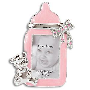 Jeweled Brownlow Kitchen Pink Baby Bottle Baby Girl Picture Frame 3779-MK