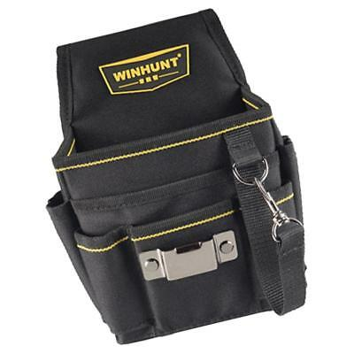 Cloth Tool Bag for Roofer Maintenance Workers Construction Haversack Black B