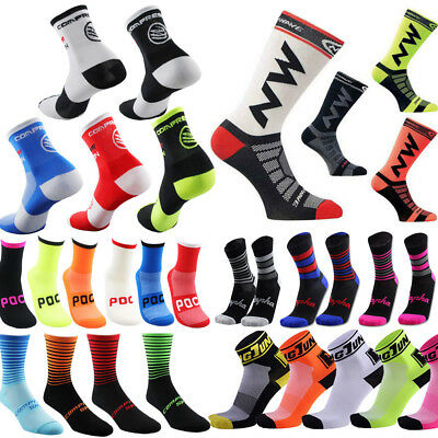 Men Women Sport Outdoor Cycling Riding Hiking Calf Socks Ankle-high Breathable
