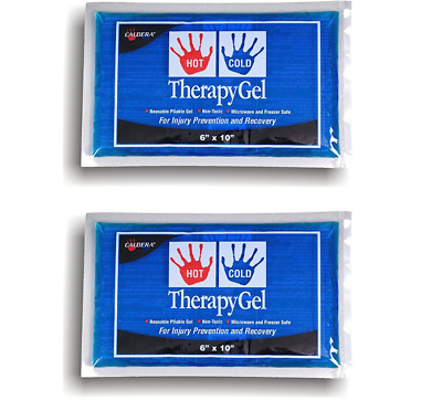 2 Pack - Caldera Therapy Gel Pack, Hot & Cold, 6 Inches x 10 Inches