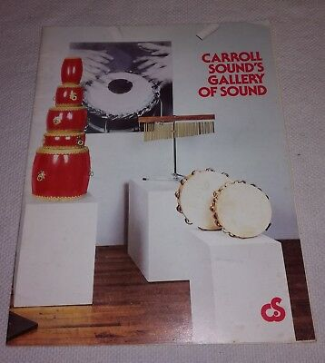 Carroll Sound percussion catalog 1979 price list