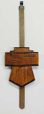 "Cuckoo Clock Pendulum 2 1/2"" Chalet Style 8 Day Brown German Made 8 3/4"" Long"