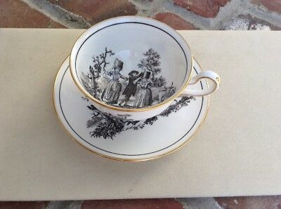 Royal Chelsea Country Scene Bone China Cup & Saucer
