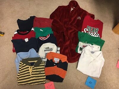 Lot of 14-Boys Size 4, 4T, 5 Summer Spring Fall Clothes-Old Navy, Pooh, Carter's