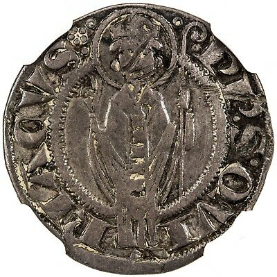 ANCONA: Anonymous, 1210-1330, silver grosso agontano, NGC VF DETAILS