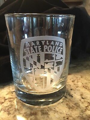 Maryland State Police Cocktail Glass