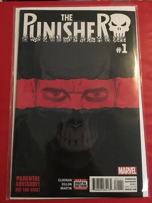 Punisher 1 Marvel Comics Cloonan Dillon 2016 Frank Castle Netflix 1st Print NM