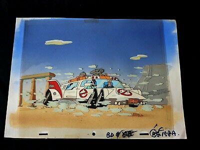 The Real Ghostbusters 1989  Production ECTO-1 Cel Painted Back