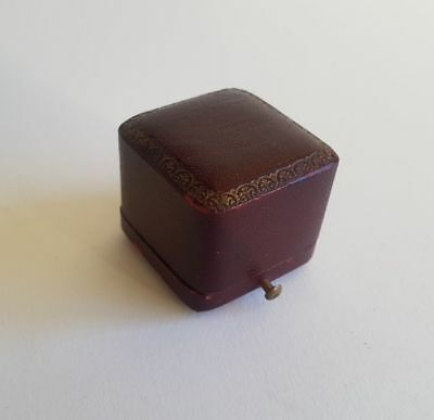 Antique Leather ring box Victorian Edwardian gilt tooled French