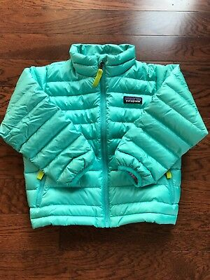 NWT Patagonia Baby Down Sweater Jacket Strait blue 3T $99