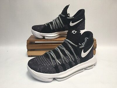 01620244c558b Nike Zoom KD10 (GS) Basketball Shoes Black White Oreo 918365-001 Youth NWOB