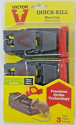 Victor Quick-Kill Mouse Traps With Precision Strike Technology 3 Pack A10-10
