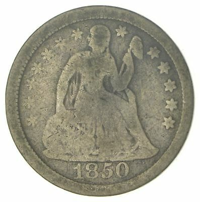 1850 Seated Liberty Silver Dime *263