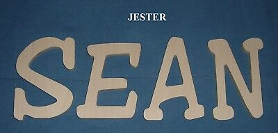 """Unpainted Wooden Wall Letters 12"""" size ALL CAPITALS Name Decor Select a Font"""