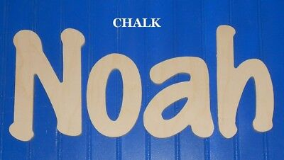 """Unpainted Wooden Wall Letters 10"""" size Home Decor Kids Room Baby Nursery Chalk"""