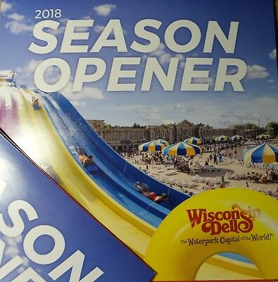 4 Pack Wisconsin Dells Season Opener Cards  Free Circus World Tommy Bartlett