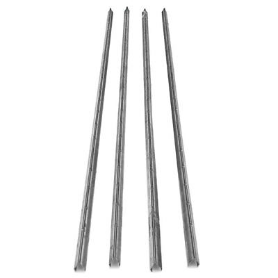 """4x Stainless Steel Smokehouse Smokestick V Curl Shaped with Notches 42 x 3/4"""""""