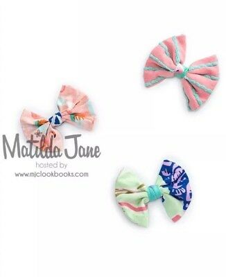 Nwt - Matilda Jane Spinning Top Bow Set Of 3 The Adventure Begins New Hair