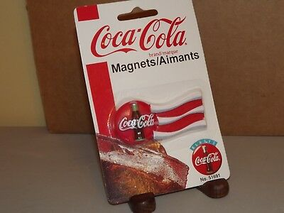 1998 Coca Cola Flag Like Magnet #51691 MOC