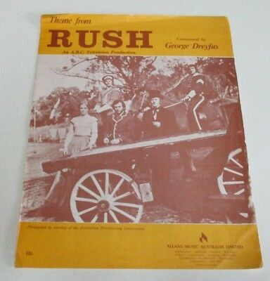 Theme from 'Rush' - ABC Television Show - Sheet Music - By George Dreyfus - 1974