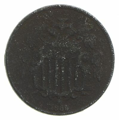 First US Nickel - 1869 - Shield Nickel - US Type Coin - Over 100 Years Old! *095