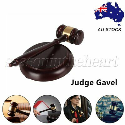 Wood Judge Gavel for Lawyer Judge Auctioneer Executive in Court Auction