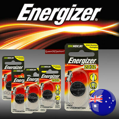 5 X Energizer CR2032 Single Packed Battery 3V Lithium Batteries Button