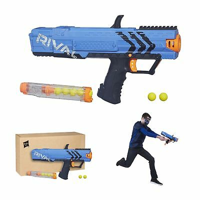Blaster Toy Gun Nerf Rival Apollo XV700 Spring Action 7 High Impact Rounds Blue