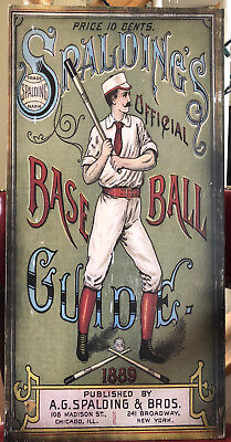 1889 Spalding Official Baseball Guide Reproduction Sign