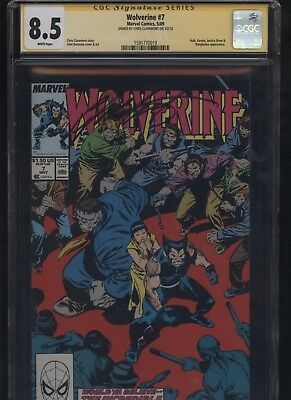 Wolverine #7 CGC 8.5 SS Chris Claremont 1989 INCREDIBLE HULK Jessica Drew