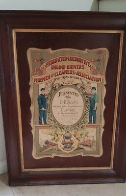 Old Timber Framed Victorian Railways 1928 Certificate Fledfca Steam Tait Rare