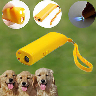 Ultrasonic Dog Pet Repelled Training LED Device Trainer Anti Barking Device New
