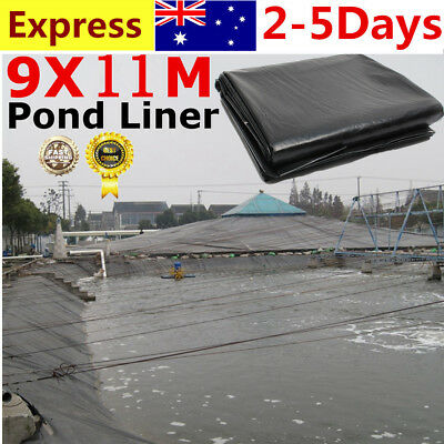 9X11M Fish Pond Liner Gardens Landscaping Pools Reinforced HDPE Membrane