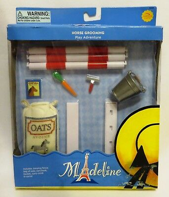 """Retired 2002 Learning Curve HORSE GROOMING SET 84306 NIB for 8"""" Madeline Doll"""