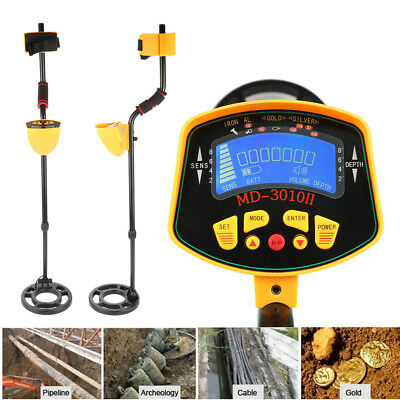 MD-3010II Metal Detector Gold Digger Light Hunter Deep Sensitive Search LCD OB1