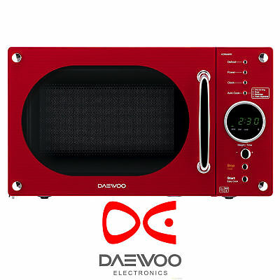 Daewoo KOR8A9RR Red 23L Freestanding 800W Retro Style Touch Control Microwave