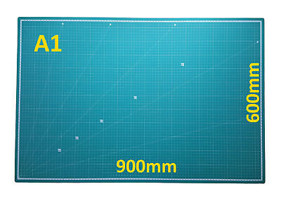 90*60CM Duable Rectangle Cutting Mat Self Healing Rotary Grid Lines Cut Mat A1