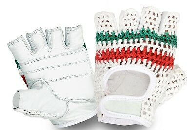 Vintage Style World Champion Crochet Mitts Cycling Gloves