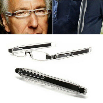 Folding Old Man Slim Mini Ultraportability Reading Glasses Eyeglass Spectacles